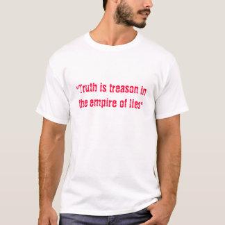 A verdade é traição no império das mentiras camiseta