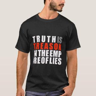A verdade é traição no império das mentiras camisetas