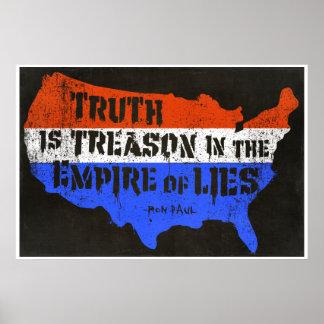 A verdade é traição no império das mentiras poster