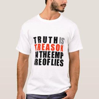 A verdade é traição no império das mentiras t-shirt