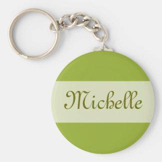 a verde azeitona adiciona seu nome chaveiro
