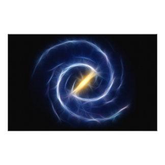 A Via Láctea Stars a galáxia espiral Papelaria