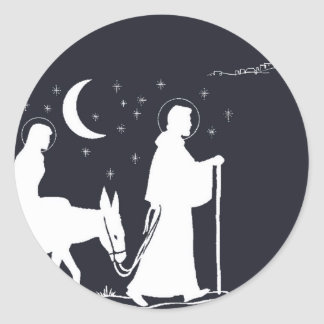 A viagem a Bethlehem Adesivos Em Formato Redondos