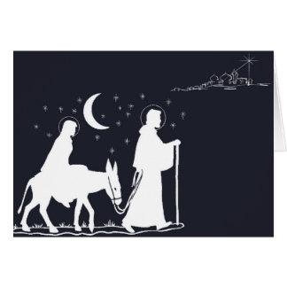 A viagem a Bethlehem Cartão Comemorativo