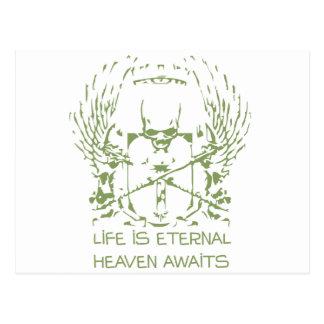 A vida é céu eterno espera - a religião cartão postal