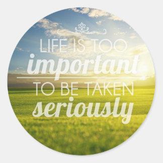 A vida é citações | inspiradores demasiado adesivo