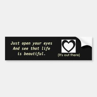 A vida é lembrete bonito adesivo para carro