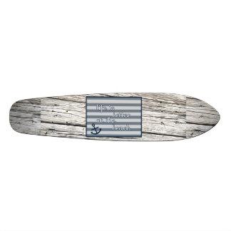 A vida é melhor na praia shape de skate 18,1cm