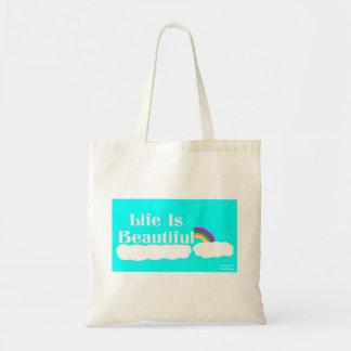 A vida é sacola bonita bolsa tote