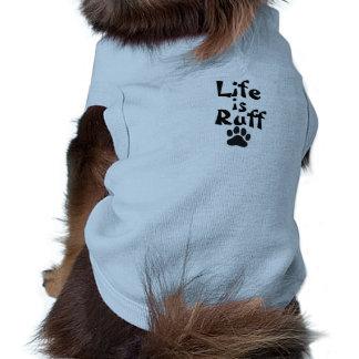A vida é tshirt do pavão-do-mar para cães pequenos camisa sem mangas para cachorro