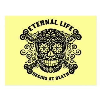 A vida eterna começa na morte cartão postal
