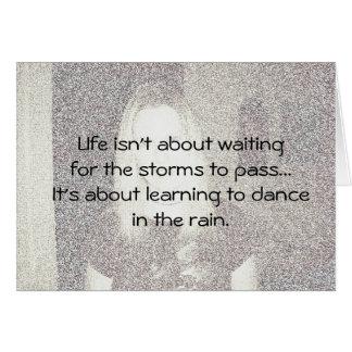 A vida não está sobre… cartão de nota