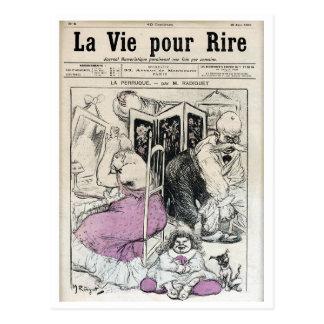 ~ A Vida para rir - 16 de junho de 1900 ~ Cartão Postal
