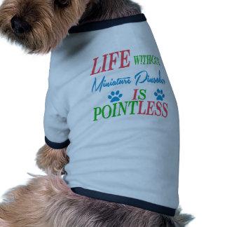 A vida sem Pinscher diminuto é injustificada Camisa Ringer Para Cachorro