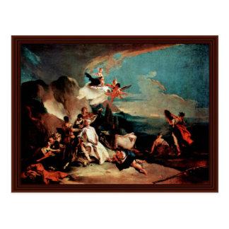A violação de Europa por Tiepolo Giovanni Battista Cartoes Postais