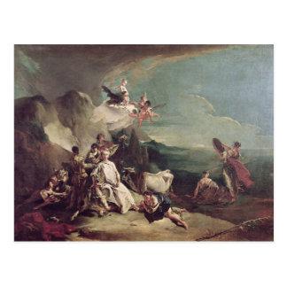 A violação do Europa, 1720-21 Cartão Postal