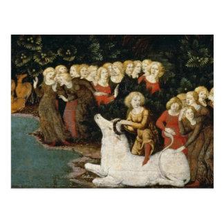 A violação do Europa, c.1470 (óleo no painel) Cartão Postal