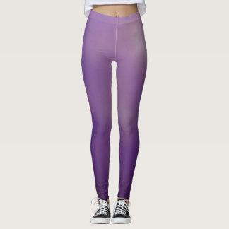 A violeta abstrata colore caneleiras leggings