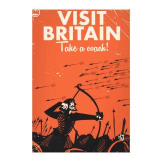 """A visita Grâ Bretanha """"toma poster das viagens Impressão Em Tela"""