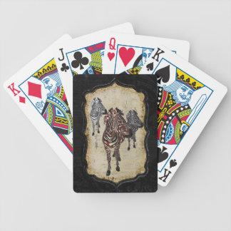 A zebra cor-de-rosa sombreia a plataforma de cartã baralhos para poker