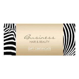 A zebra moderna listra certificados de presente do 10.16 x 22.86cm panfleto