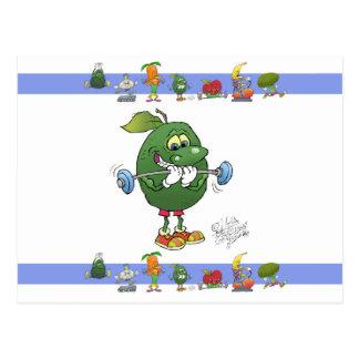 Abacate do levantamento de peso, em um cartão