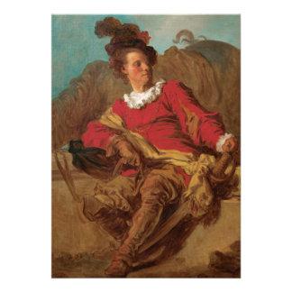 Abade vestido como o espanhol por Fragonard Convites Personalizado