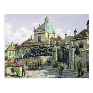 Abaixo do palácio do Belvedere em Viena Cartão Postal