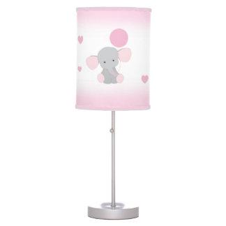 Abajur Animal cinzento cor-de-rosa do safari do bebé do