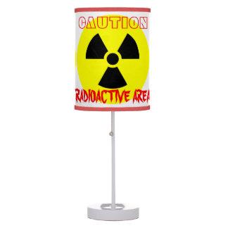 Abajur Candeeiro de mesa radioativo do branco da área do