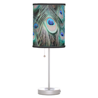 Abajur De Mesa Olhos brilhantes e brilhantes do pavão