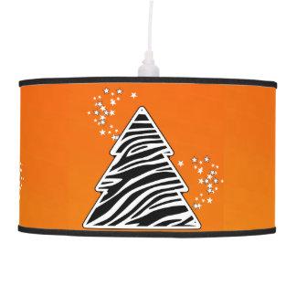 Abajur De Teto Árvore de Natal alaranjada da zebra