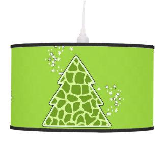 Abajur De Teto Árvore de Natal verde do girafa