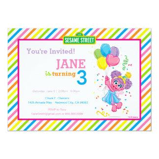 Abby listrou o aniversário convite 12.7 x 17.78cm