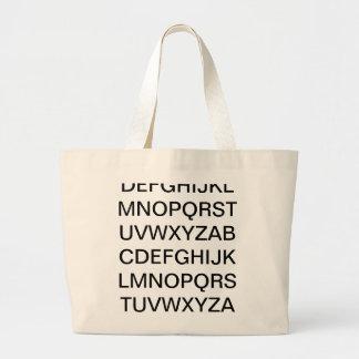 ABC alfabeto Sacola Tote Jumbo