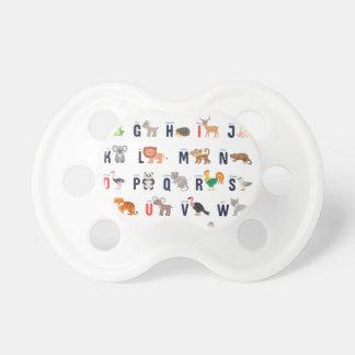 ABCs animal - alfabeto Chupeta Para Bebê