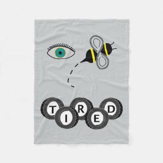 Abelha do olho cansado cobertor de lã