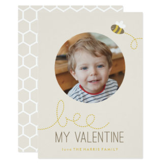 Abelha meu cartão do dia dos namorados de convite 12.7 x 17.78cm