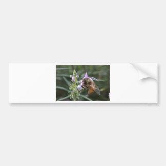 Abelha na flor adesivo para carro
