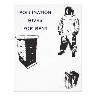 abelhas da polinização flyer 21.59 x 27.94cm