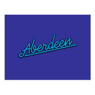 Aberdeen em ciano cartão postal
