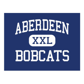 Aberdeen - linces - alto - Aberdeen Washington Cartão Postal