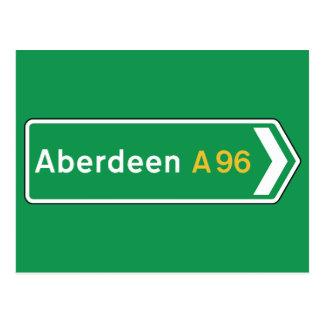 Aberdeen, sinal de estrada BRITÂNICO Cartão Postal