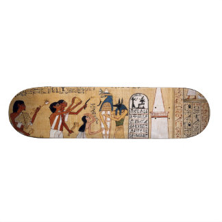 Abertura do livro da cerimónia da boca do morto shape de skate 18,4cm