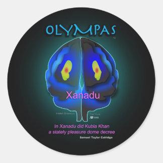Abóbada do prazer de Olympas Adesivo Em Formato Redondo