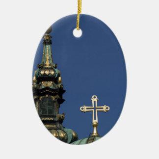 Abóbadas ortodoxos da igreja cristã ornamento de cerâmica