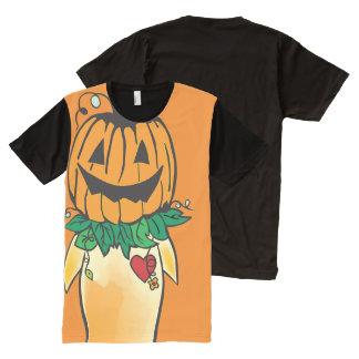 Abóbora Camisetas Com Impressão Frontal Completa