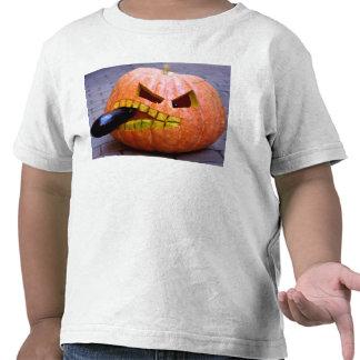 Abóbora com a camisa das crianças da beringela tshirt