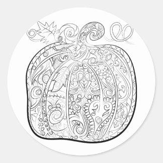 abóbora do Dia das Bruxas: colora sua etiqueta