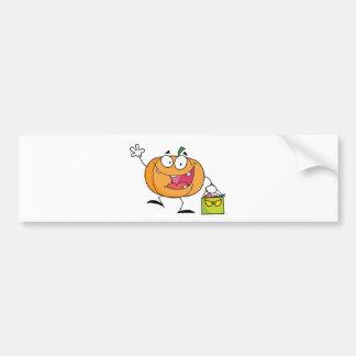 Abóbora do personagem de desenho animado com saco  adesivo para carro
